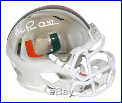 Michael Irvin Autographed/Signed Miami Hurricanes Chrome Mini Helmet JSA 26725