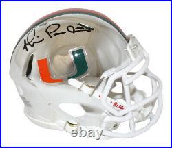 Michael Irvin Autographed/Signed Miami Hurricanes Chrome Mini Helmet JSA 26726