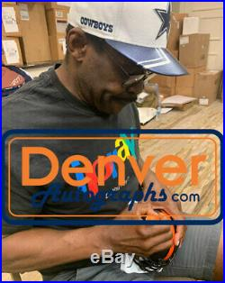 Michael Irvin Autographed/Signed Miami Hurricanes Eclipse Mini Helmet BAS 28110
