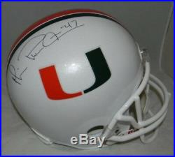 Michael Irvin Autographed Signed Miami Hurricanes Full Size Helmet Jsa