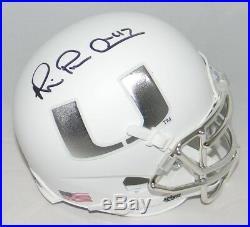 Michael Irvin Autographed Signed Miami Hurricanes Matte White Mini Helmet Jsa