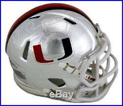 Michael Irvin Autographed/Signed Miami Hurricanes Mini Chrome Helmet