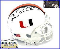 Michael Irvin Autographed/Signed Miami Hurricanes NCAA Mini Helmet Playmaker