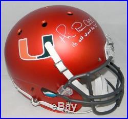 Michael Irvin Autographed Signed Miami Hurricanes Orange Full Size Helmet Jsa