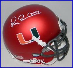 Michael Irvin Autographed Signed Miami Hurricanes Orange Mini Helmet Jsa
