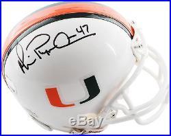 Michael Irvin Miami Hurricanes Autographed Riddell Mini Helmet