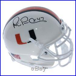 Michael Irvin Miami Hurricanes Autographed Schutt Mini Helmet PSA/DNA