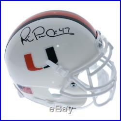 Michael Irvin Miami Hurricanes Autographed Signed Schutt Mini Helmet PSA/DNA A