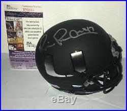 Michael Irvin Miami Hurricanes Signed Autographed Black Mini Helmet JSA COA N