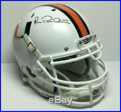 Michael Irvin Signed F/S Authentic Miami Hurricanes Helmet Cowboys JSA/PSA