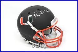 Michael Irvin Signed Full Size Miami Hurricanes Custom Helmet Autograph JSA COA