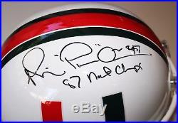 Michael Irvin Signed Full Size Miami Hurricanes Football Helmet Fs Insc +jsa Coa
