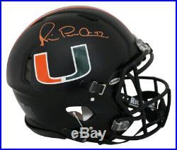 Michael Irvin Signed Miami Hurricanes Authentic Black Nights Helmet JSA 25688