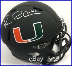 Michael Irvin Signed Miami Hurricanes Football Helmet Full Size Auto Cowboys Jsa