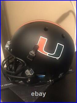 Michael Irvin Signed Miami Hurricanes Full Size Helmet JSA COA Dallas Cowboys