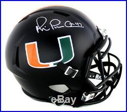 Michael Irvin Signed Miami Hurricanes Riddell NCAA Full Size Black Speed Helmet