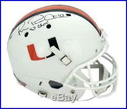 Michael Irvin Signed Miami Hurricanes Schutt Full Size Helmet- Playmaker, Champs