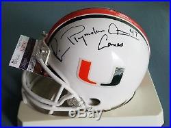 Michael Irvin signed Miami Hurricanes Mini Helmet Dallas Cowboys
