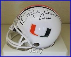 Michael Irvin signrd Miami Hurricanes Riddell Mini Helmet JSA