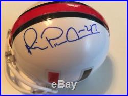 Michael Playmaker Irvin Miami Hurricanes Star Wr Hof Jsa Signed Mini Helmet Coa