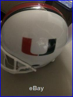 Micheal Irvin Autographed Miami Hurricanes Helmet Scripted 87 National Champs