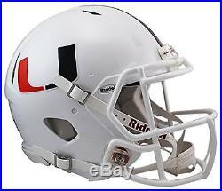 NCAA Speed Authentic Helmet White Miami Hurricanes New