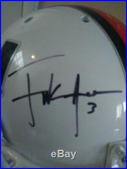 Ncaa Miami Hurricane Fs Schutt Football Helmet Signed By Frank Gore 3