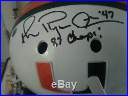 Ncaa Miami Hurricane Fs Schutt Football Helmet Signed Michael Irvin Playmaker 87