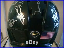 Ncaa Miami Hurricanes Baseball 2001 National Champion Team Signed Fs Helmet