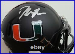 RARE Duke Johnson Signed Miami Hurricanes Mini Helmet BAS WITNESSED Sticker ONLY