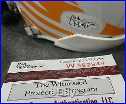 REGGIE WAYNE signed MIAMI HURRICANES mini helmet JSA WITNESS indianapolis colts