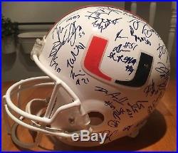 RIDDELL Display Helmet Autographed 2003 University of Miami Hurricanes Team