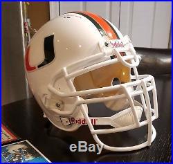 Ray Lewis Autograph Full Size Helmet (Miami Hurricanes)