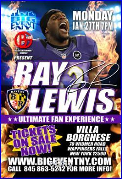 Ray Lewis Autographed Full Size Fs Miami Ice Hof Signed Helmet Psa Coa