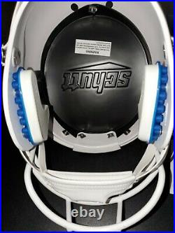 Ray Lewis Autographed Miami Hurricanes Full-Size Football Schutt Helmet JSA COA