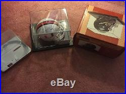Ray Lewis Autographed Miami Hurricanes Mini Helmet COA AND Flawless Display Case