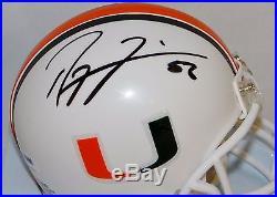 Ray Lewis Autographed Miami Hurricanes Mini Helmet- PSA/DNA Authenticated