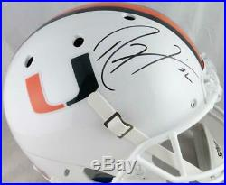 Ray Lewis Autographed Miami Hurricanes White Schutt F/S Helmet JSA Auth 8457