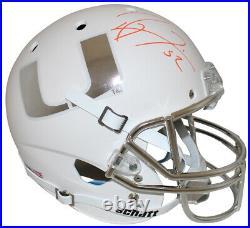 Ray Lewis Autographed Miami Hurricanes White Schutt Replica Helmet BAS 29515