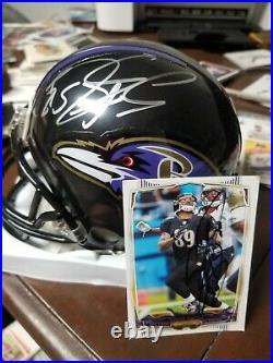 Ray Lewis Autographed Miami Hurricanes & ravens Mini Helmet JSA COA + others
