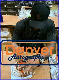 Ray Lewis Autographed/Signed Miami Hurricanes Chrome Mini Helmet BAS 28488