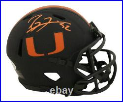 Ray Lewis Autographed/Signed Miami Hurricanes Eclipse Mini Helmet BAS 28324