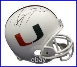 Ray Lewis Autographed/Signed Miami Hurricanes Replica Helmet JSA 15613