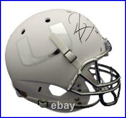 Ray Lewis Autographed/Signed Miami Hurricanes Replica White Helmet JSA 15614