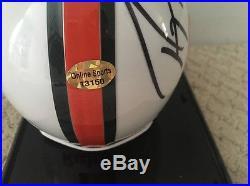 Ray Lewis Baltimore Ravens LB Miami Hurricanes Autographed Mini Helmet