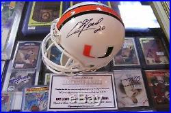 Ray Lewis & Ed Reed Dual Signed Riddell Mini Helmet Miami Hurricanes