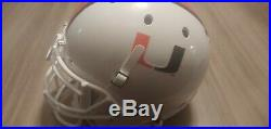 Ray Lewis Miami Hurricanes Full Size Autographed Schutt Helmet. No Reserve