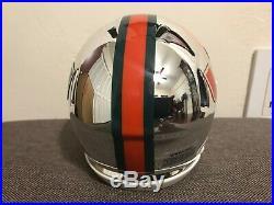 Ray Lewis, Signed Auto Chrome Speed Miami Hurricanes Mini Helmet, BAS COA