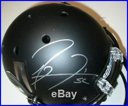 Ray Lewis Signed Auto Ravens BLACK ICE MIAMI HURRICANES Full Size Helmet JSA COA