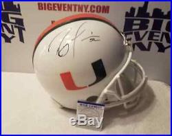 Ray Lewis Signed Baltimore Ravens MIAMI HURRICANES Full Size Helmet PSA/DNA
